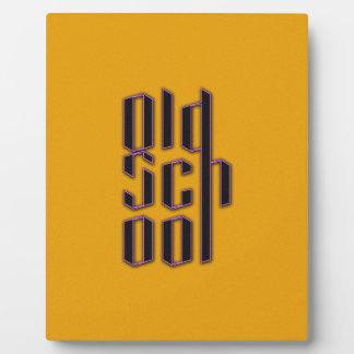 Yellow Old School Display Plaque