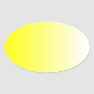Yellow Ombre Oval Sticker