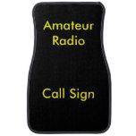 Yellow on Black Amateur Radio Call Sign Car Mat