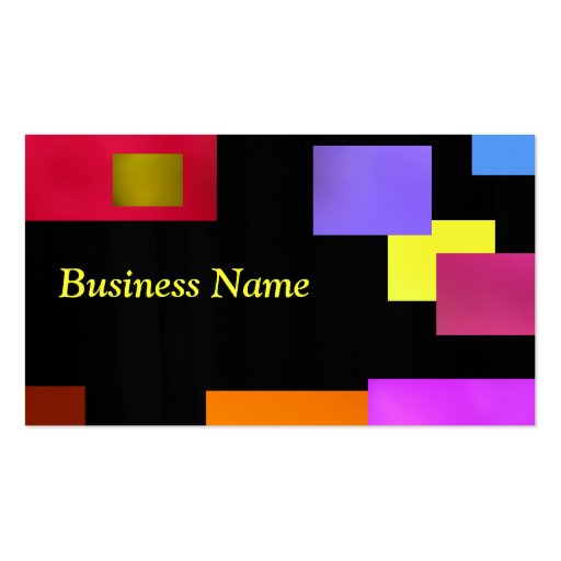 Yellow on Black Business Card Templates