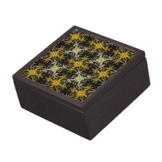Yellow on Black Damask Pattern Gift Box