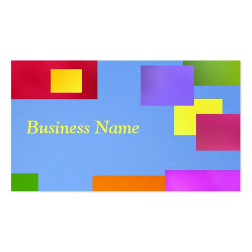 Yellow on blue business cards