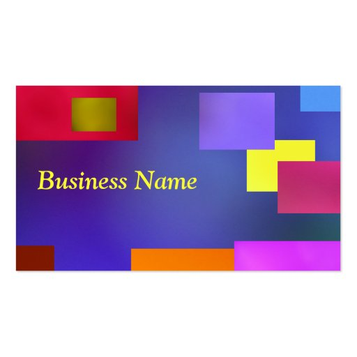 Yellow on blue business card template