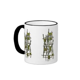 Yellow on Green Ringer Coffee Mug