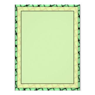 Yellow on Green Weave Blank Flyer