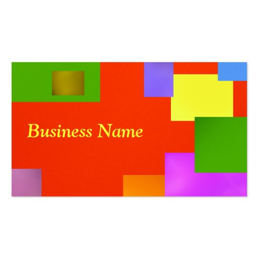 Yellow on Orange Business Cards
