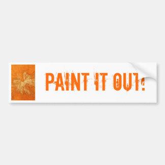 Yellow on Orange Paintball Bumper Sticker