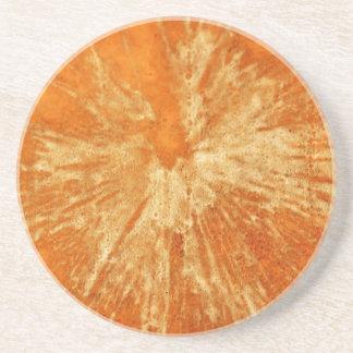 Yellow on Orange Paintball Sandstone Coaster
