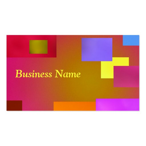 Yellow on Pink Business Card Template