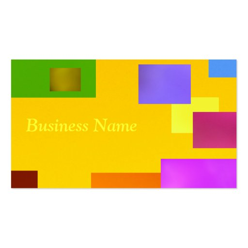 Yellow on Yellow Business Cards