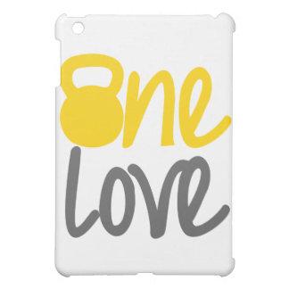 "Yellow ""One Love"" Kettlebell iPad Mini Covers"