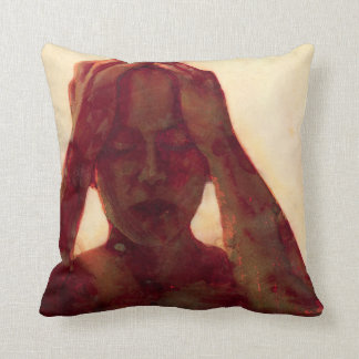 Yellow One Second Noise 2007 Throw Pillow