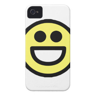 Yellow Open Mouth Smiley Face Case-Mate iPhone 4 Case