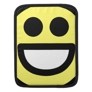 Yellow Open Mouth Smiley Face iPad Sleeves