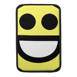 Yellow Open Mouth Smiley Face MacBook Air Sleeves