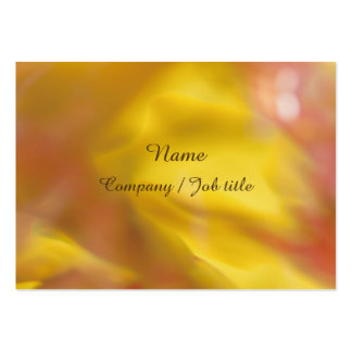 Yellow Orange Abstract Energic Vital Businesscard Large Business Card