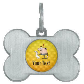 Yellow Orange Accountant Pet ID Tags