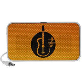 Yellow Orange Acoustic Guitar Mini Speaker