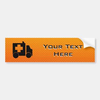 Yellow Orange Ambulance Car Bumper Sticker