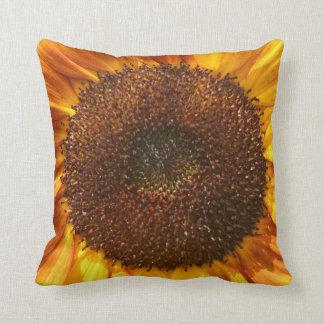 Yellow, Orange, and Brown Sunflower Pillow