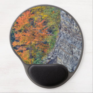 Yellow, Orange and Gray Gel Mousepad