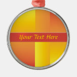 Yellow, Orange and Red Abstract Ornament