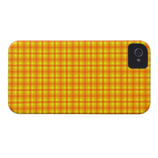 Yellow Orange and Red Retro Chequered Pattern Case-Mate iPhone 4 Case