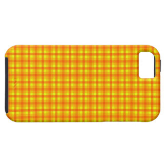 Yellow Orange and Red Retro Chequered Pattern iPhone 5 Case