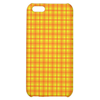 Yellow Orange and Red Retro Chequered Pattern Cover For iPhone 5C