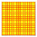 Yellow Orange and Red Retro Chequered Pattern Photograph