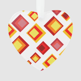 Yellow, orange and red squares ornament