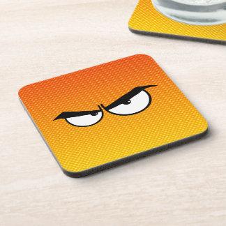 Yellow Orange Angry Eyes Coasters