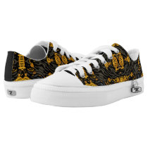 Yellow Orange Animal Print Low-Top Sneakers