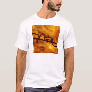 Yellow Orange Barbed Wire Fugue T-Shirt