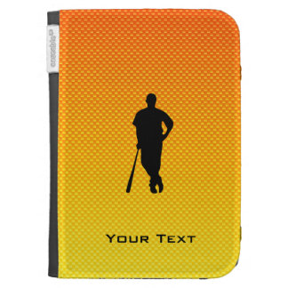 Yellow Orange Baseball Kindle Keyboard Case