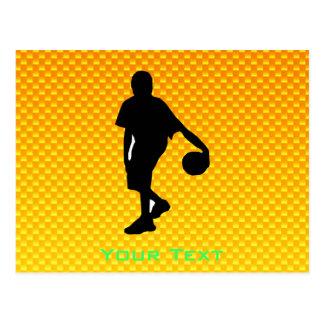 Yellow Orange Basketball Postcard