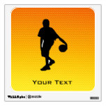 Yellow Orange Basketball Wall Graphic