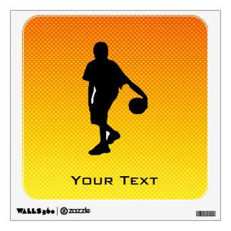 Yellow Orange Basketball Wall Stickers
