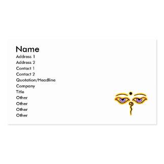 Yellow Orange  Buddha Eyes.png Business Cards