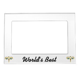 Yellow Orange Buddha Eyes.png Magnetic Picture Frame