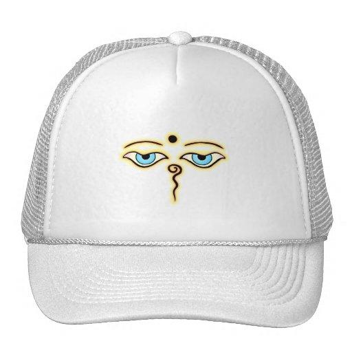 Yellow Orange Buddha Eyes.png Trucker Hat
