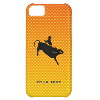 Yellow Orange Bull Riding Cover For iPhone 5C