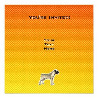 Yellow Orange Bullmastiff Custom Announcements