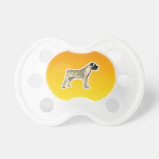 Yellow Orange Bullmastiff Pacifiers
