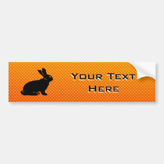 Yellow / Orange Bunny Car Bumper Sticker