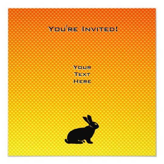 Yellow / Orange Bunny Card