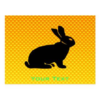 Yellow / Orange Bunny Postcard