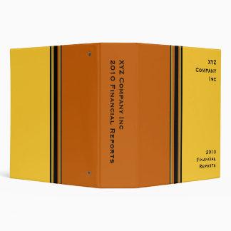 yellow orange business 3 ring binder