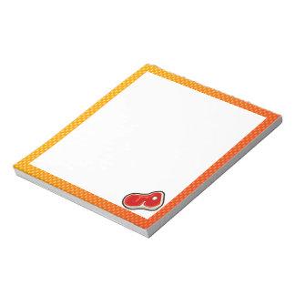 Yellow Orange Butcher's Steak Memo Pads