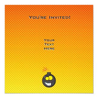 Yellow Orange Cartoon Bomb Card